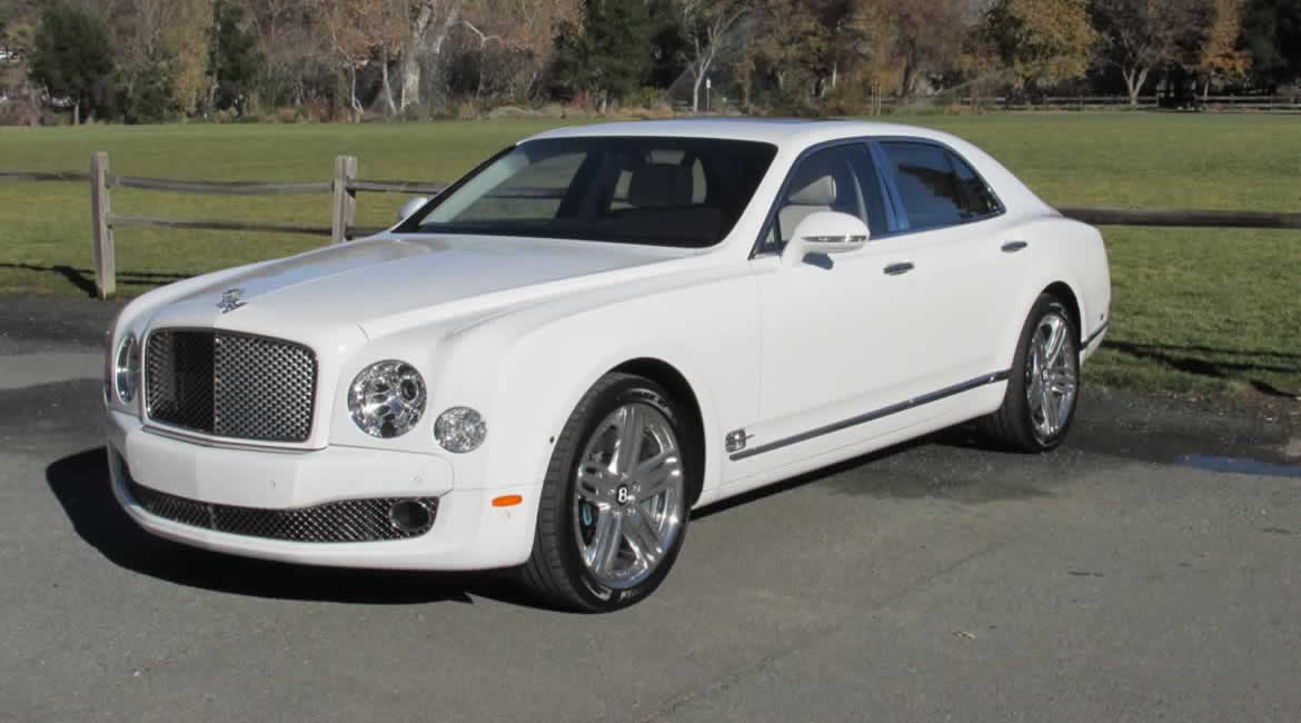 bentley mulsanne white. white bentley mulsanne chauffeurdriven hire o