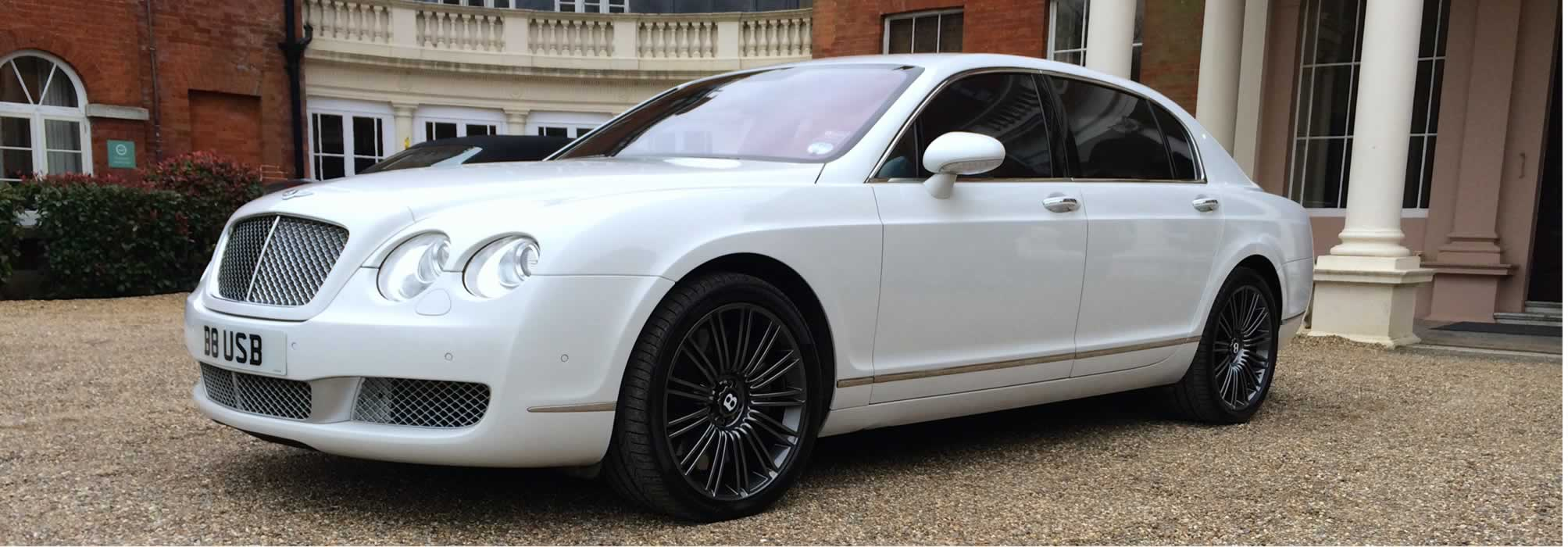 Bentley Flying Spur White Herts Rollers
