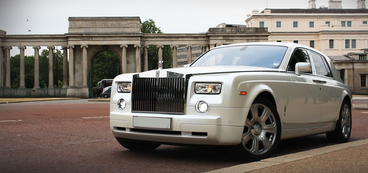 White Rolls Royce Phantom Hire in London, Herts & Essex