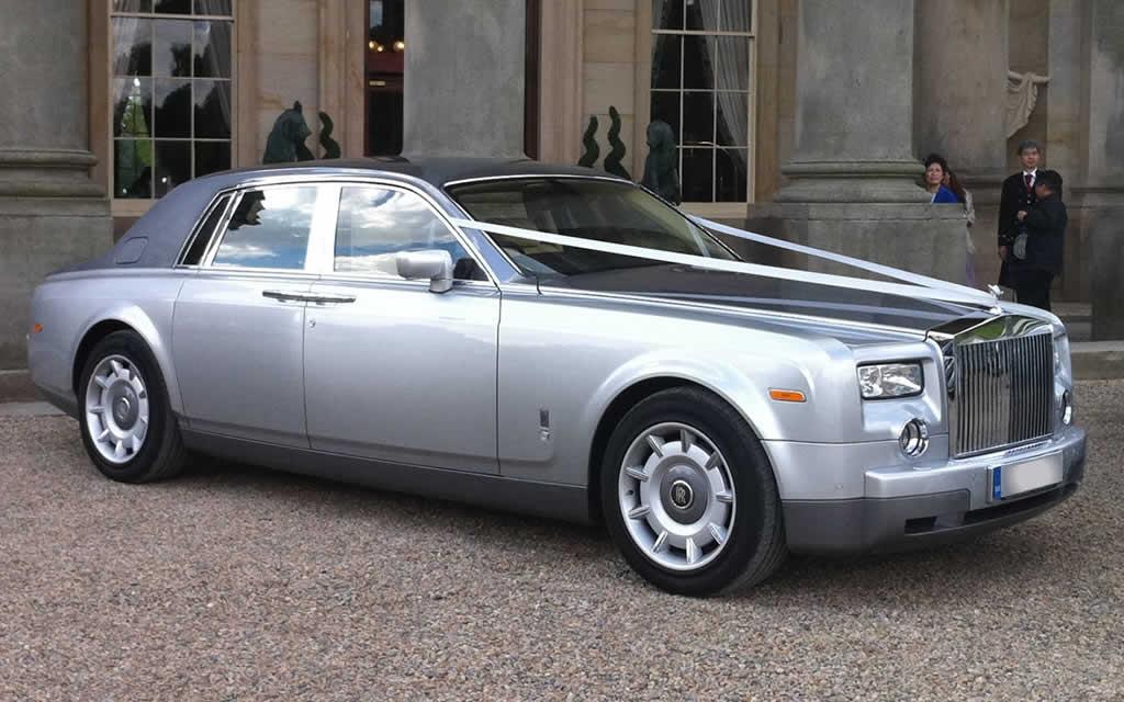 Silver Rolls Royce Phantom Hire Herts Rollers
